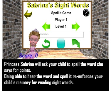 Sabrina's Sight Words- screenshot thumbnail