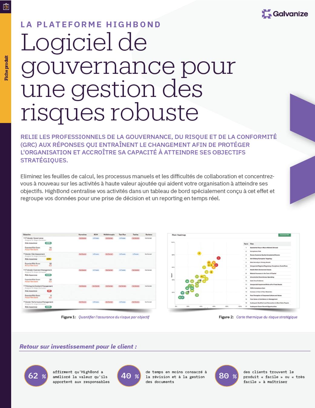 Logiciel de gouvernance pour une gestion des risques robuste
