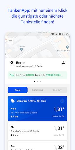 TankenApp mit Benzinpreistrend screenshot 1