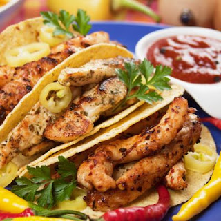 Beer Marinated Chicken Guacamole Tacos