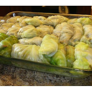 Stuffed Cabbage With Sour Cream.