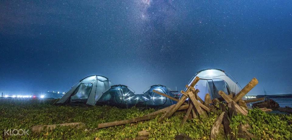 澎湖無人島沙灘露營體驗