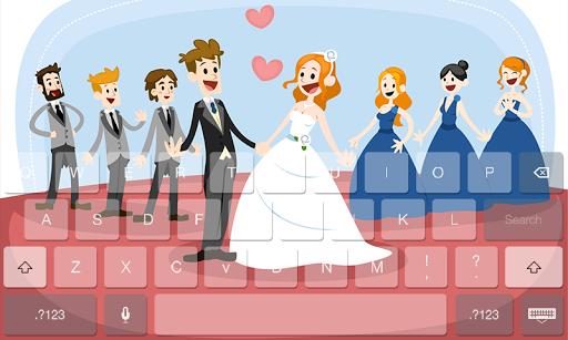 Love Couple Theme Keyboard