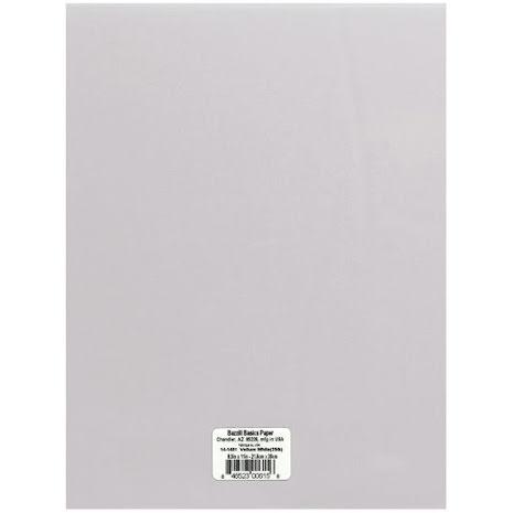 Bazzill Vellum 29lb 8.5X11 - White 29lb
