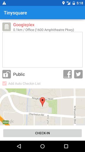 Tinysquare for foursquare screenshot