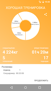 Дневник питания и журнал тренировок Screenshot
