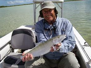 Photo: Long-time friend and customer Jack Dildine on the MRO Fall 2011 Bonefish Trip