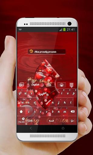 紅色聖誕 GO Keyboard