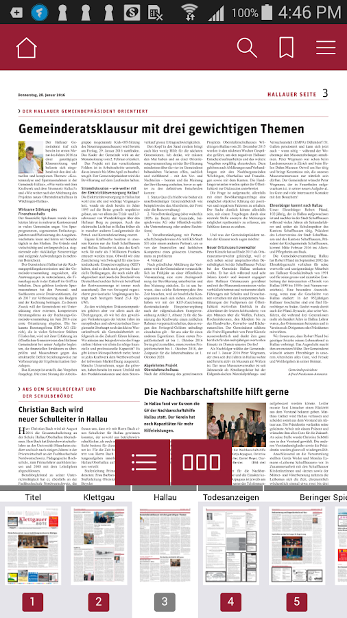 KBO E-Paper- screenshot