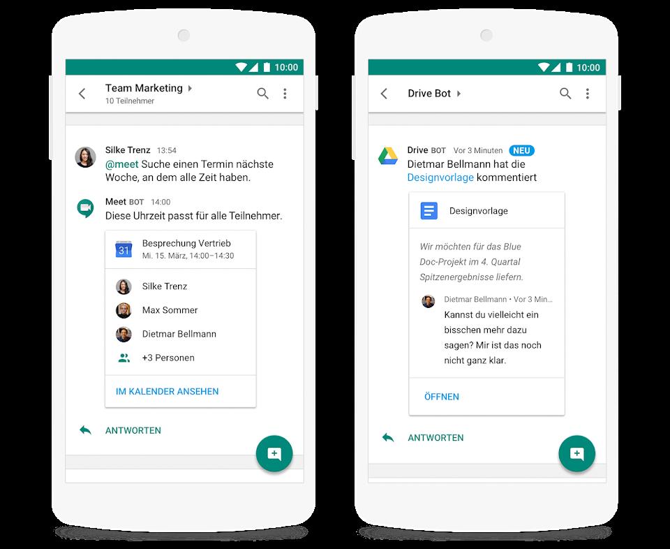 GSuite-Kalender und Google Drive