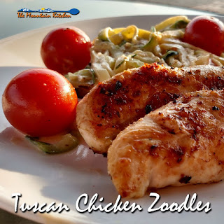 Tuscan Chicken Zoodles