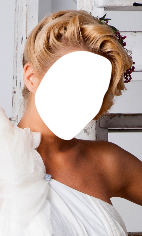 Bridal Hairstyle Photo Montage- screenshot