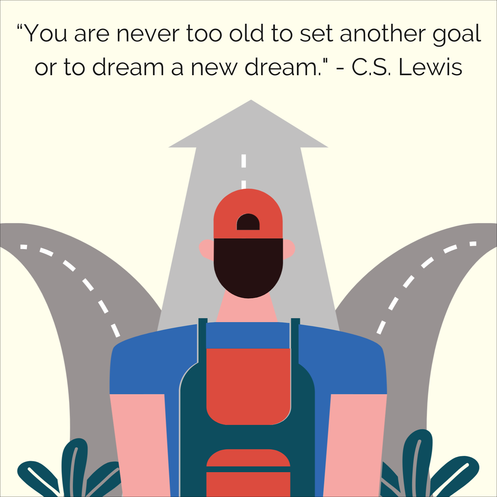 """""""You are never too old to set another goal or to dream a new dream."""" by C.S. Lewis"""