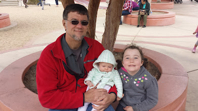 Photo: JB, Julie and Fianna at Dennis the Menace Park in Monterey
