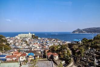 Photo: Sea view from train 伊豆的海景