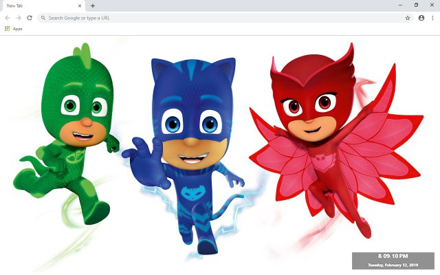 PJ Masks New Tab & Wallpapers Collection