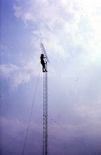 Photo: This might be K2TR putting up a tower like a walk in the park