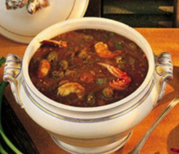 Okra can be added to Seafood Gumbo