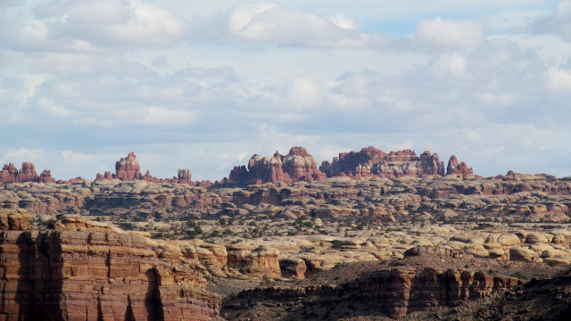 View across the river to the Needles District