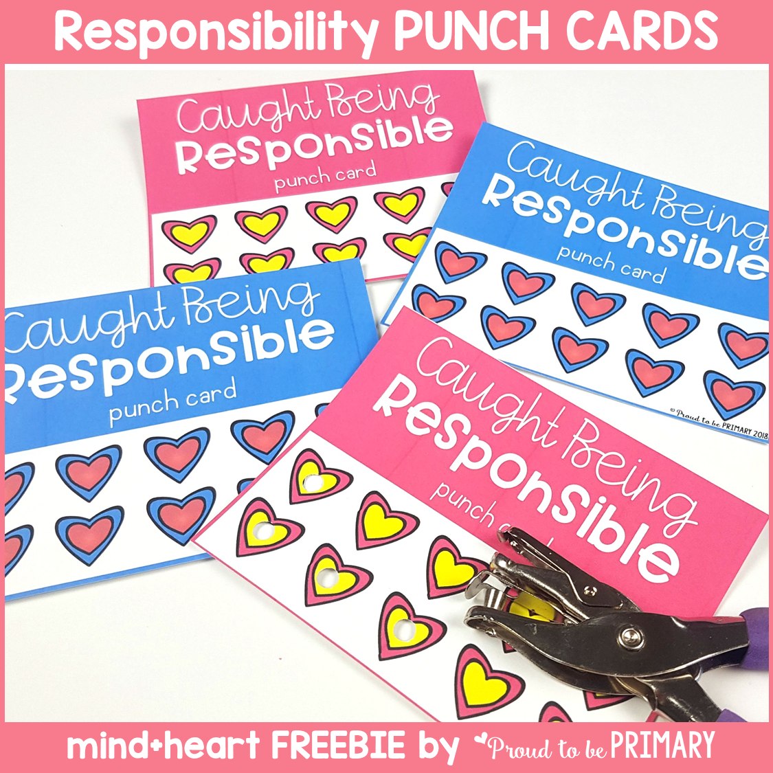 teaching responsibility - responsibility punch cards