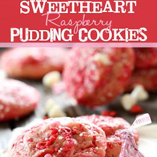 Sweetheart Raspberry Pudding Cookies
