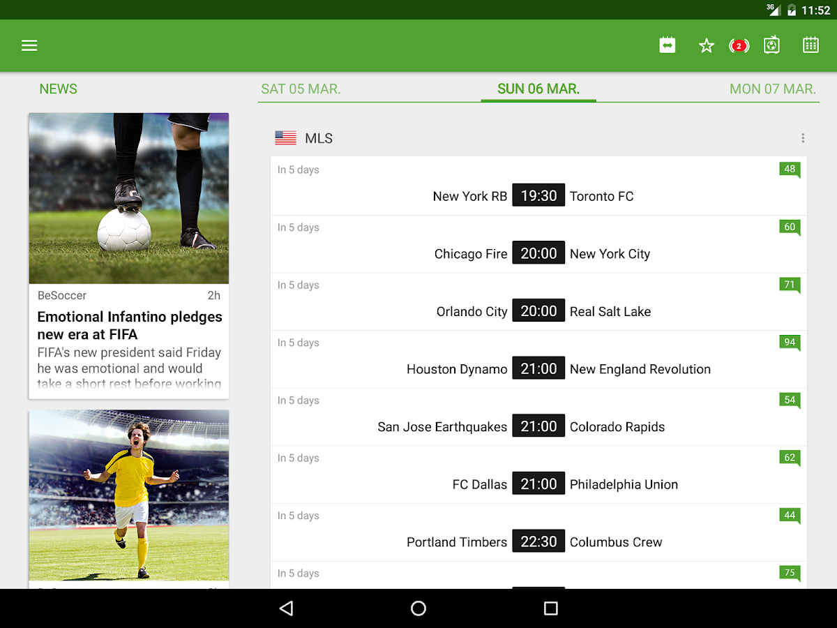 besoccer - soccer live score - android apps on google play