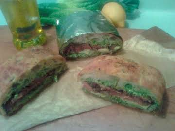 CAESAR SALAD CHEESE STEAK SANDWICH