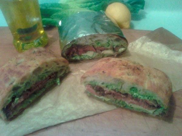 Caesar Salad Cheese Steak Sandwich Recipe