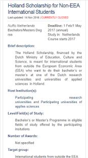 Netherlands Scholarship - náhled