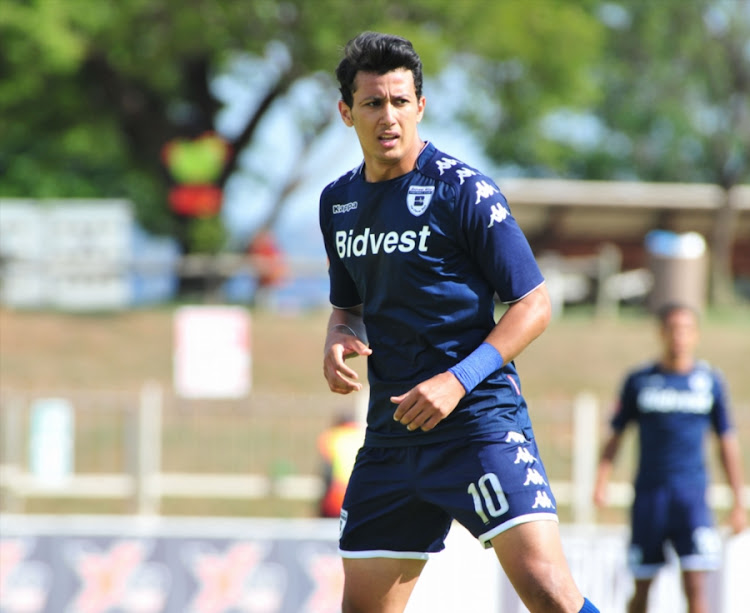 Bidvest Wits' Egyptian striker Gamal Amr Ahmed in action during the Absa Premiership match against Polokwane City at Old Peter Mokaba Stadium on December 09, 2017 in Polokwane, South Africa.