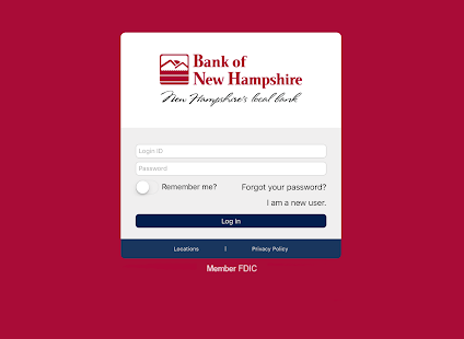 Bank of New Hampshire BeMobile- screenshot thumbnail