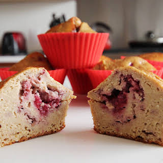 Raspberry High Protein Muffin.