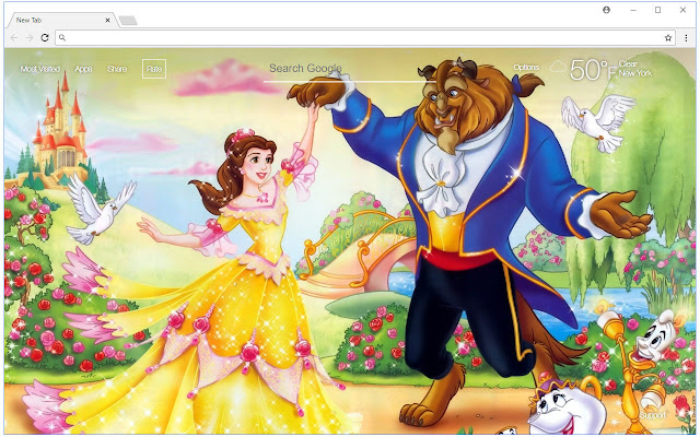 Beauty and the Beast Wallpaper Themes