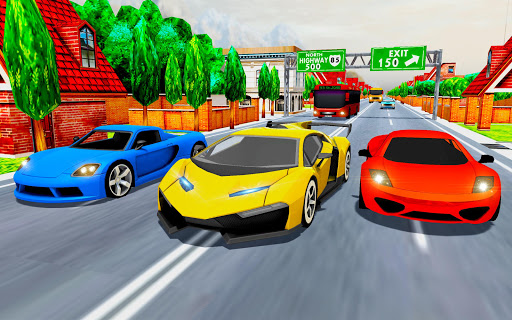 Voiture Courses dans Vite Autoroute Trafic  captures d'écran 2