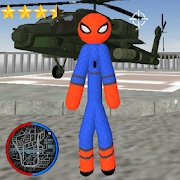 Stickman Spider Rope Hero Gangstar Crime