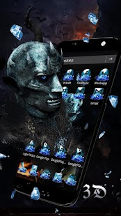 Ice White Walkers 3D Theme - náhled