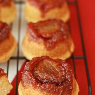 Italian Plum Upside-Down Ricotta Cupcakes