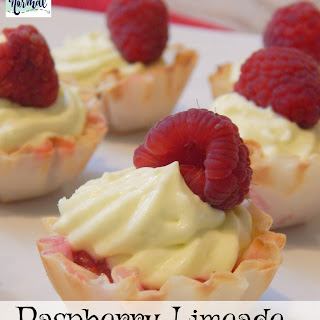 Delicious No-Bake Raspberry Limeade Mini Tarts.