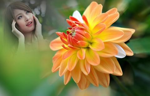 Orange Dahlia Photo Frames - náhled
