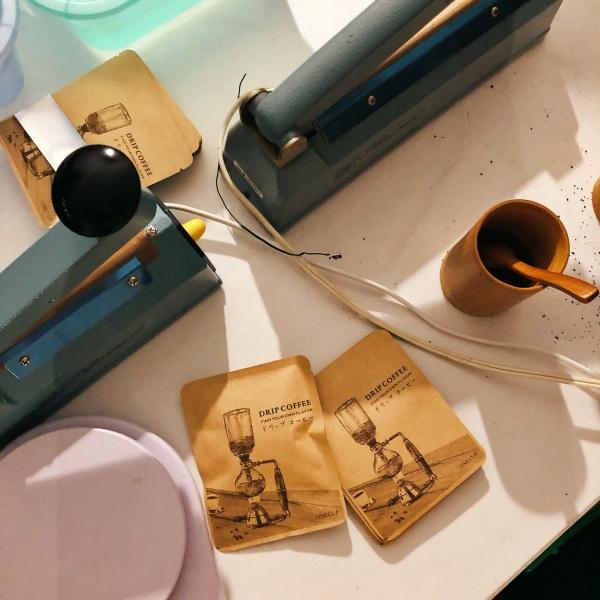 山思雲想-職人體驗-咖啡豆耳掛包製作