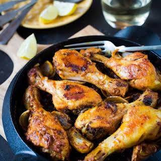 Curried Mayonnaise Roasted Chicken Drumsticks.