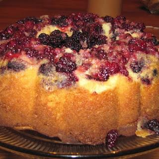 Vanilla Blackberry Cake.