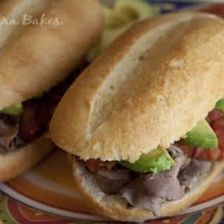 Torta Ahogada (Drowned Beef Sandwich).