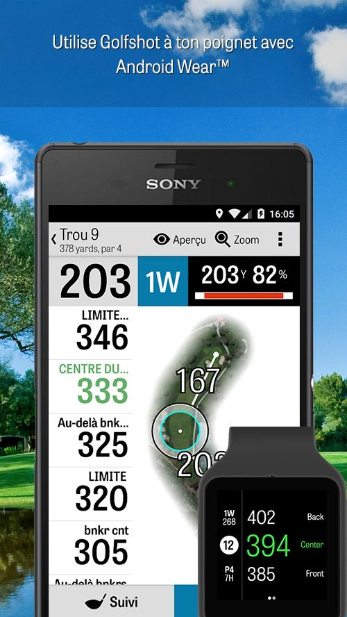 golfshot gps de golf gratuit applications android sur. Black Bedroom Furniture Sets. Home Design Ideas