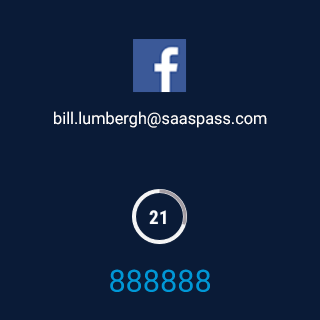 SAASPASS | Authenticator 2FA- screenshot