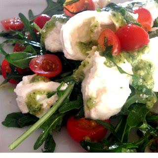 Pesto and Buffalo Mozzarella Salad