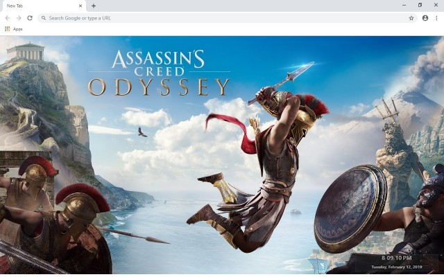 Assasin's Creed Odyssey Custom New Tab