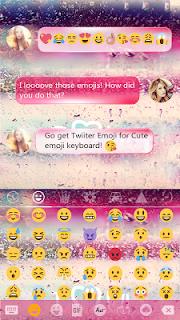 COLOR RAIN Emoji Keyboard Skin screenshot 03