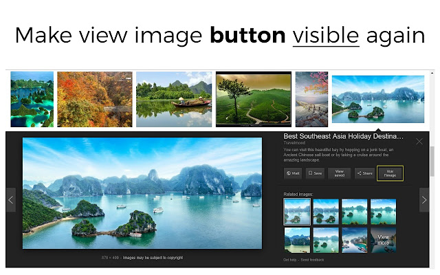 Make view image button visible again