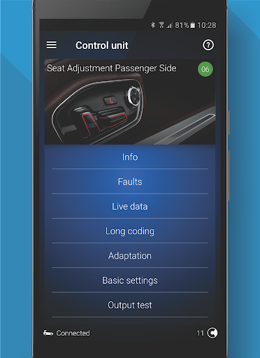 OBDeleven PRO car diagnostics app VAG OBD2 Scanner screenshot